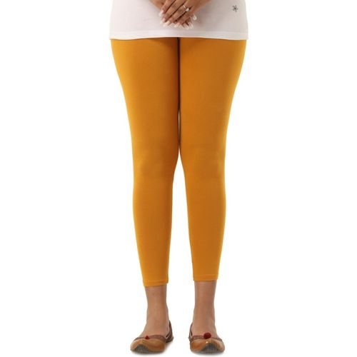 Era Life Ankle Length Legging(Yellow, Solid)