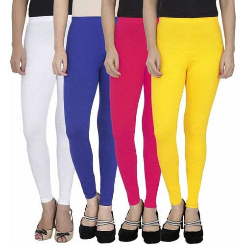 SwaNit Ankle Length Legging(White, Blue, Pink, Yellow, Solid)