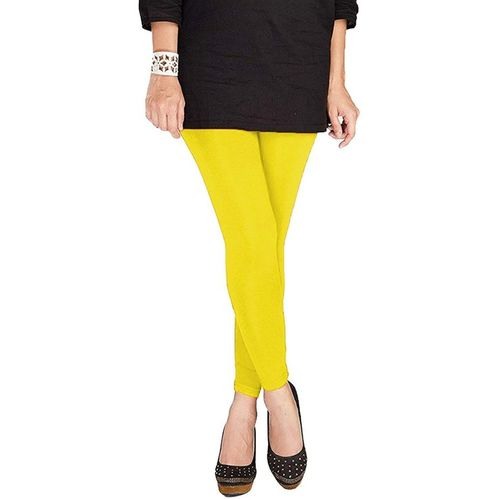 Om Shree Sai Ankle Length Legging(Yellow, Solid)