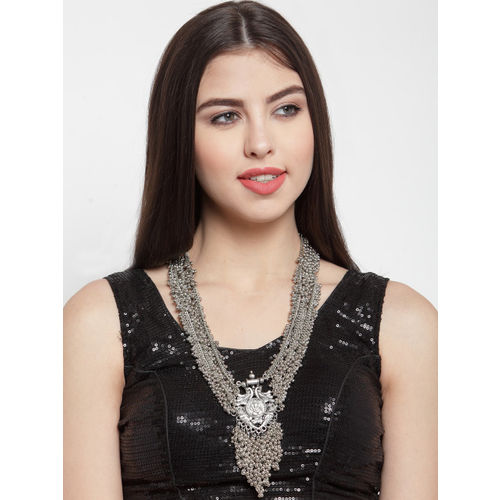 Moedbuille Silver-Plated Handcrafted Handcrafted Temple Necklace