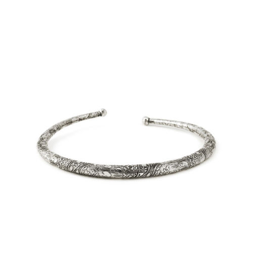 Rubans Silver-Plated Oxidised Choker Necklace