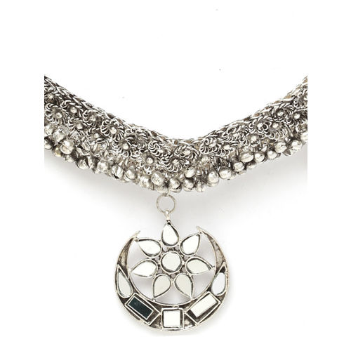 Moedbuille Silver-Plated Handcrafted Necklace