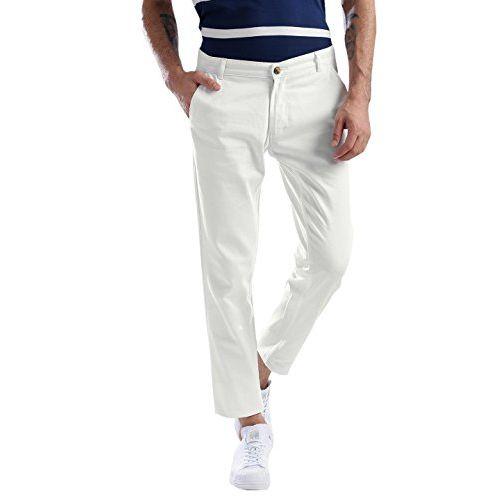 Halogen Men's Copperstone Lycra Slim Fit White Chinos