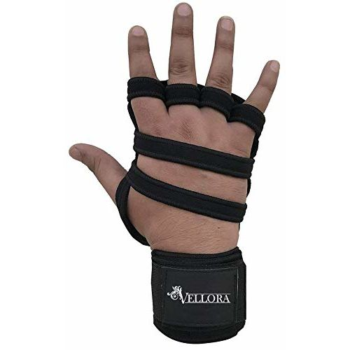 VELLORA Neoprene Grip Gym Gloves for Weight Lifting Gym Gloves Fitness Training Gym Gloves/Functional Hand Protector (Free Size)