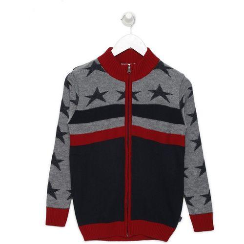 BARE KIDS Self Design High Neck Casual Boys Multicolor Sweater