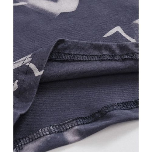 Doreme Full Sleeves T-Shirt Graphic Print - Dark Grey