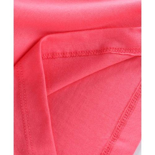 Ohms Full Sleeves Tee Waves Print - Pink