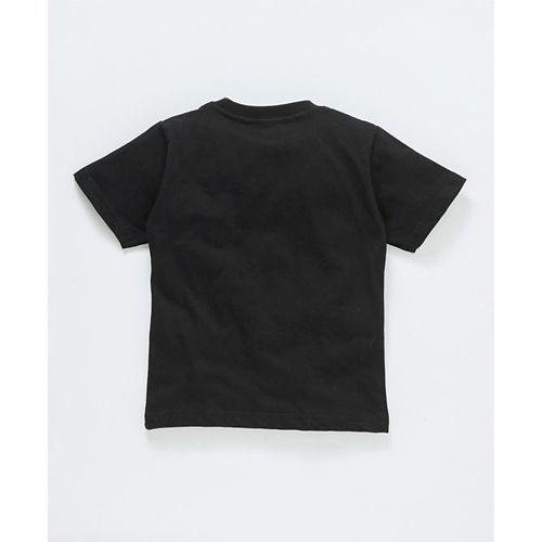Doreme Half Sleeves Tee Peace Print - Black