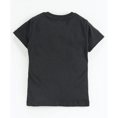 Doreme Half Sleeves T-Shirt Cycling Print - Dark Grey