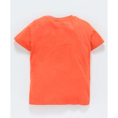 Taeko Half Sleeves Tee Tiger Print - Orange