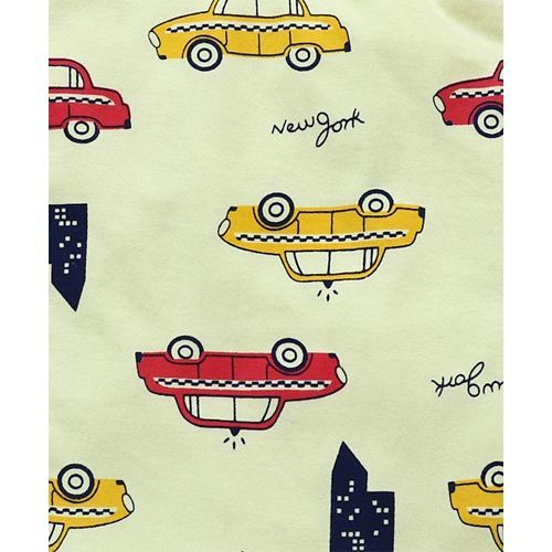 Taeko Sleeveless Tee Car Print - Yellow