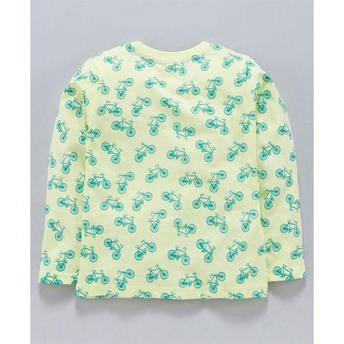 Taeko Full Sleeves Tee Cycle Print - Green