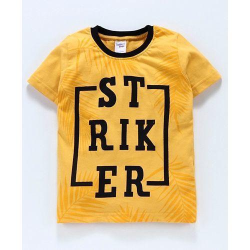 Taeko Half Sleeves Tee Strike Print - Yellow