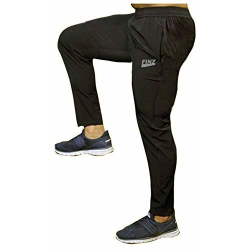 Finz Men's 100% Stretchable Lower for Gym-Workout | Yoga | Sports | Running Fabric with Zip Pockets