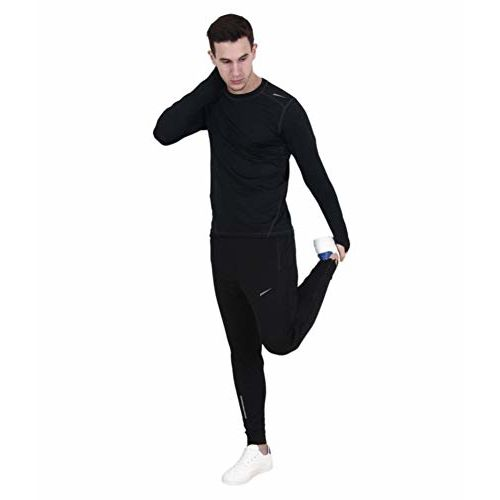FINZ AIR Men's Polyester 4way Lycra Jogger Trackpants with 2 Side Zipper Pockets