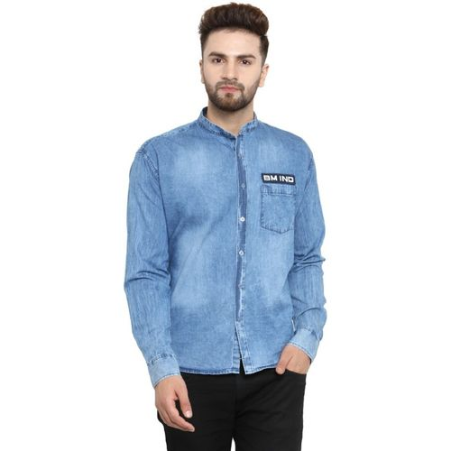 Ben Martin Men Washed Casual Light Blue Shirt