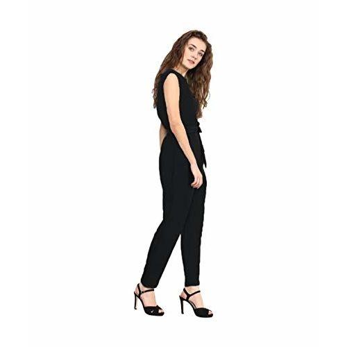 Uptownie Lite Black Crepe Keyhole Jumpsuit