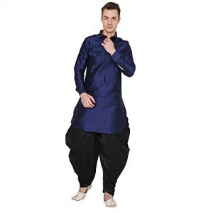 Royal Kurta Royal Men's Silk Blend Baggy Patiala Salwar Pant's for Men