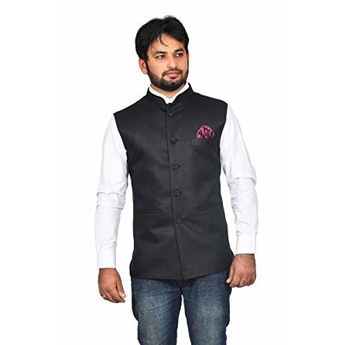 FEEL FREEDOM FASHION men's regular fit jute Ethnic nahru jacket/modi jacket waistcoat size availabale 36-54