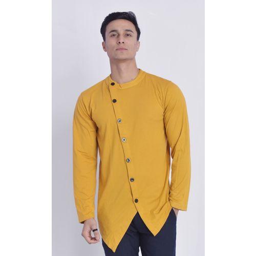 COBIO MAN Men Solid Straight Kurta(Yellow)