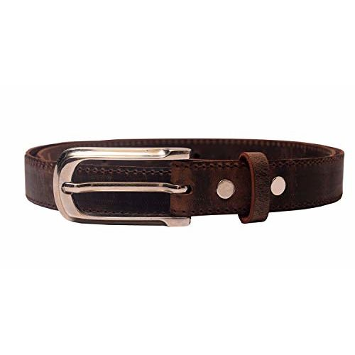 Leaderachi 100% Genuine Vintage Hunter Leather Designer Buckle Free Size Waist Belt for Women and Girls