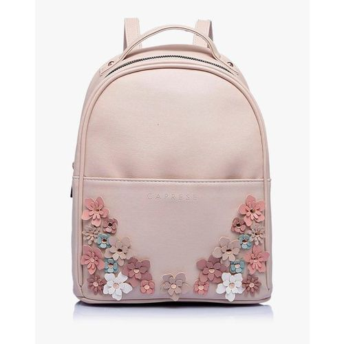 CAPRESE Backpack with Floral Applique