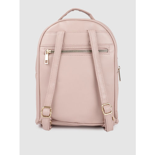 Caprese Women Pink Solid Backpack