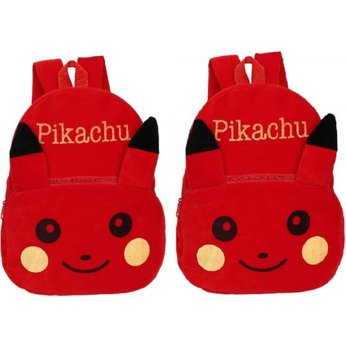 Lychee Bags Combo of Kids School Bags Pikachu 10 L Backpack(Red)