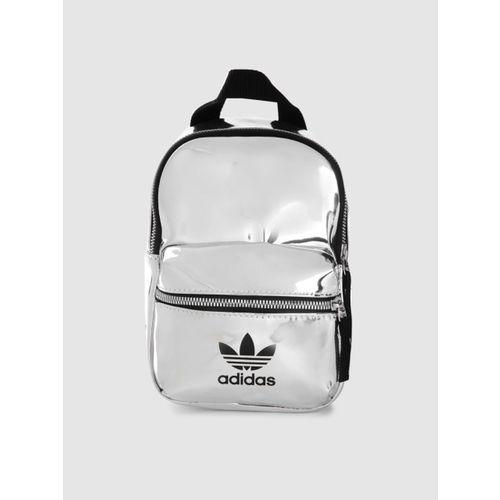 ADIDAS Originals Women Silver-Toned Mini Brand Logo Backpack