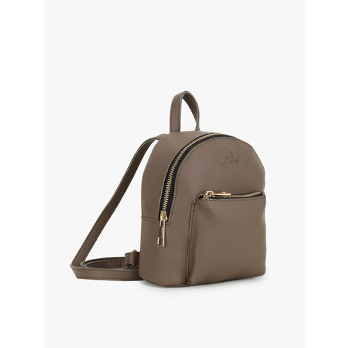 yelloe Women Brown Solid Backpack