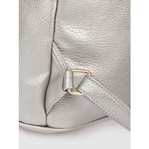 Lavie Women Silver-Toned Solid Backpack