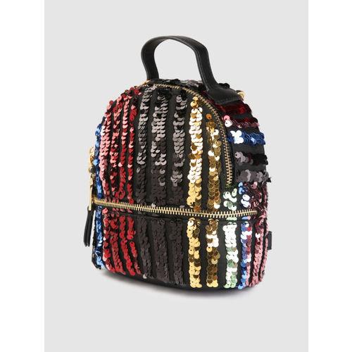 Steve Madden Multicoloured Sequinned Backpack cum Sling Bag