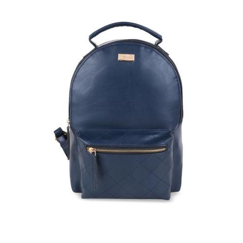 yelloe Women Blue Solid Backpack