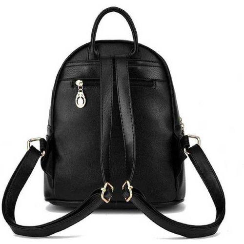 PU Leather Backpack School Bag Student Backpack Women Travel bag 10 L Backpack