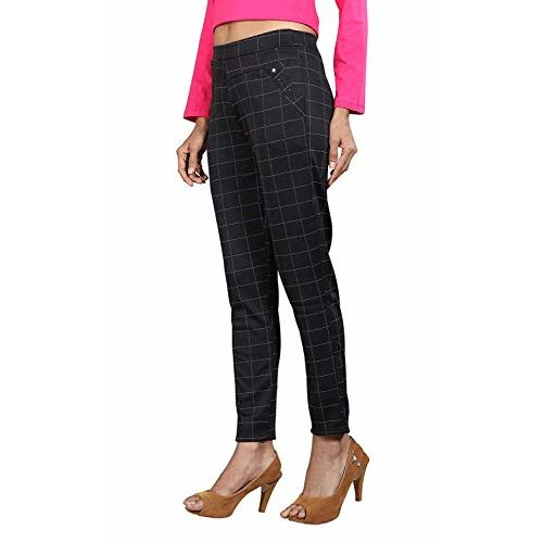 The Secret BoutiqueTM Checks Printed Jeggings for Womens and Girls with Cotton Plus Material