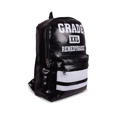 Bagkok Women Black Typography Backpack