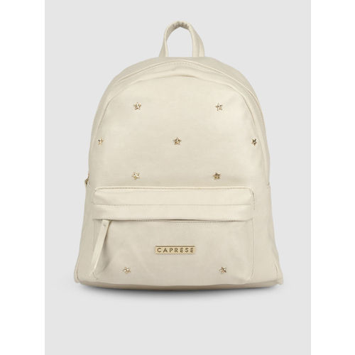 Caprese Women Off-White Solid Backpack