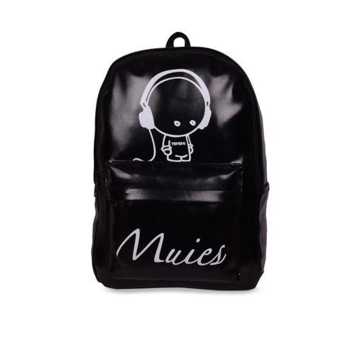Bagkok Women Black & White Solid Backpack