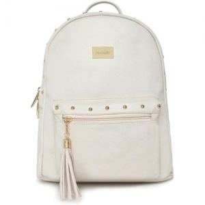 Kleio Designer Women Backpack Hand Bag For College Girls and Work Ladies 8 L Backpack(White)