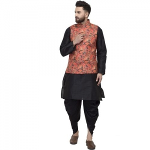 BENSTOKE Men Ethnic Jacket, Kurta and Dhoti Pant Set