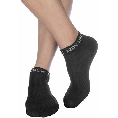 WayWalk Men's Cotton Solid Ankle Socks, Pack of 3