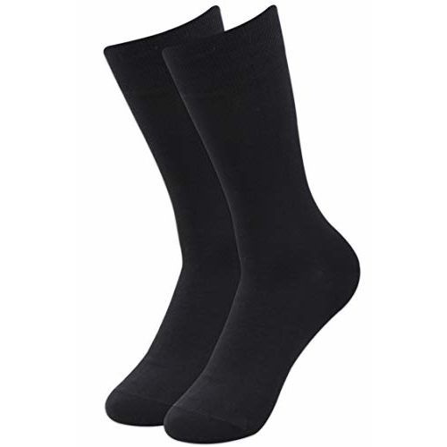 Balenzia Men's Fine Business Socks (Black, Navy and Grey) - Cotton- Combo Pack of 10