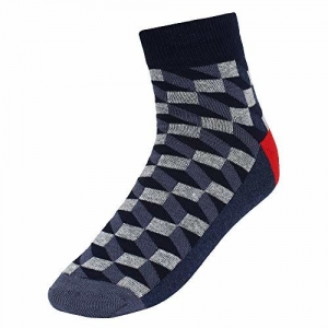 Creature Check Print Men's Ankle Length Socks Pack of 3(SCS-8.1)