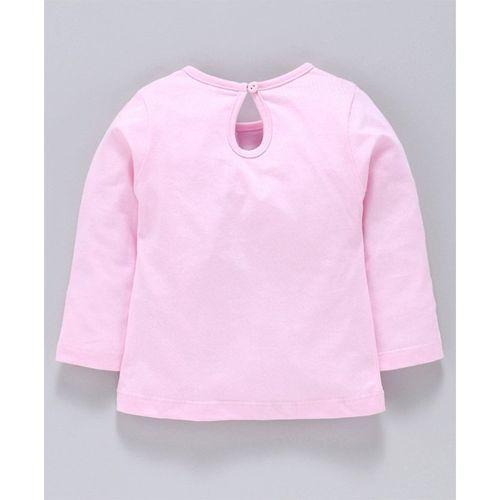 Simply Full Sleeves Top Snow Lovers Print - Pink