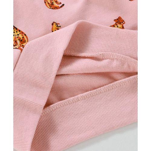 Kookie Kids Full Sleeves Tee Leopard Print - Pink