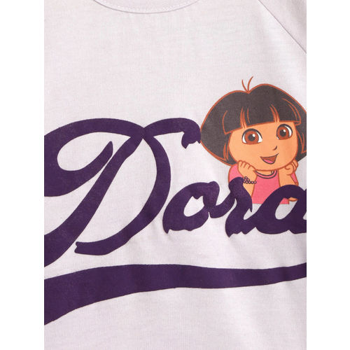 Dora Girls Lavender Printed Top