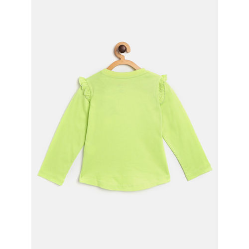 Dora Girls Green Printed Top