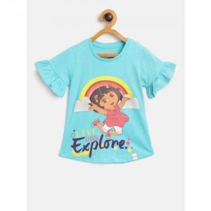 Dora Girls Blue Dora Print Top