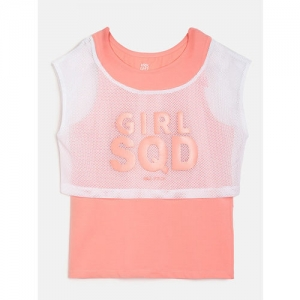 HRX by Hrithik Roshan Girls Pink Lifestyle Tops
