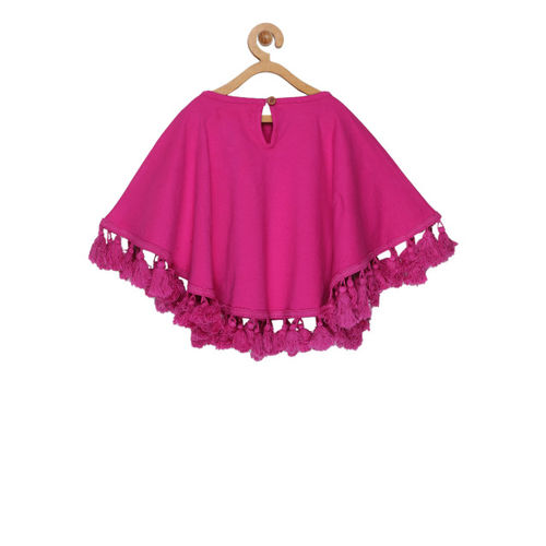 Olele Girls Pink Solid Kaftan Top